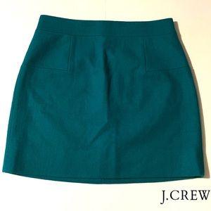 J CREW Perfect Teal Wool Pencil Skirt